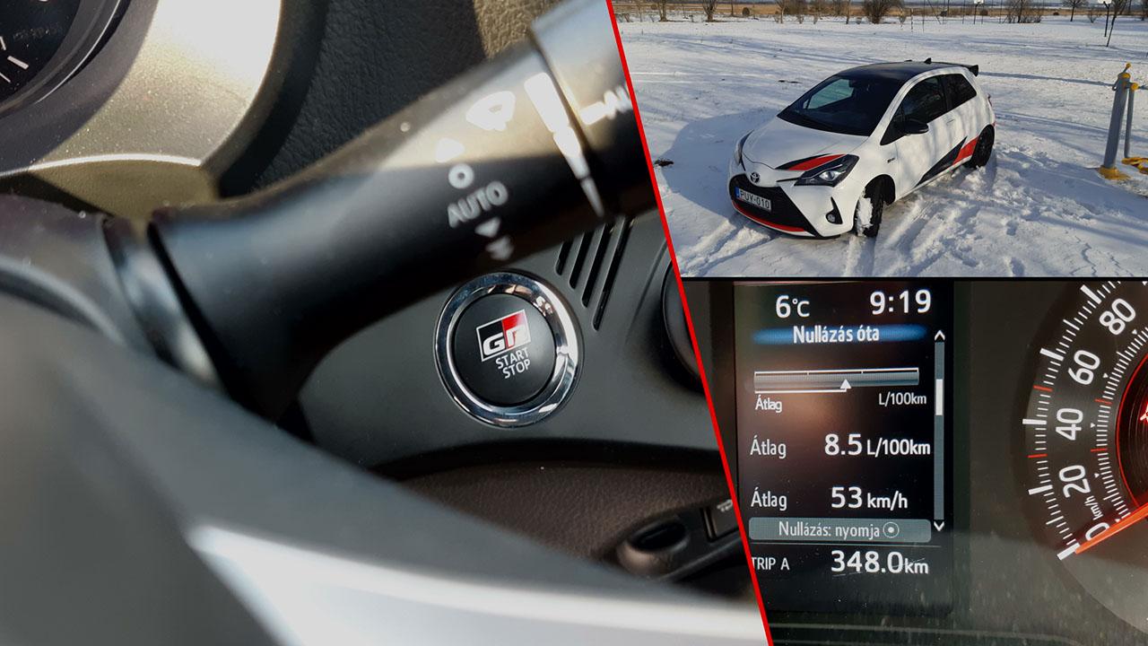 Toyota Yaris GRMN fogyasztása