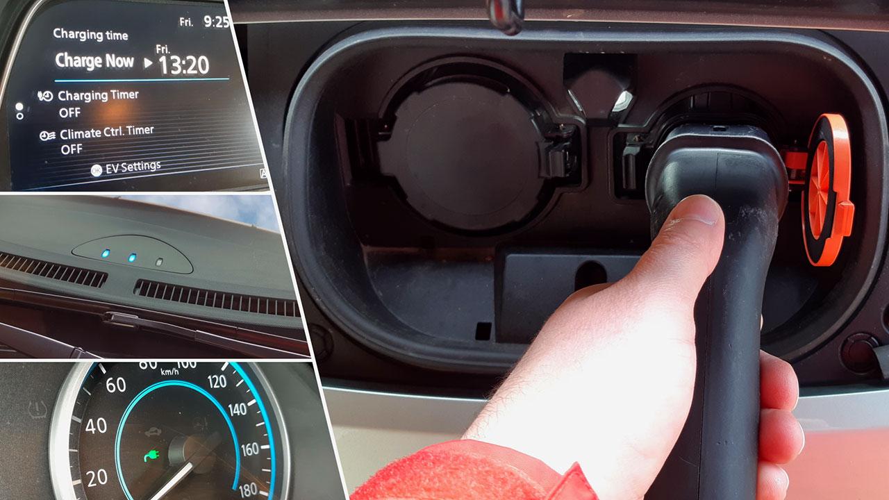 Nissan Leaf Tekna töltése