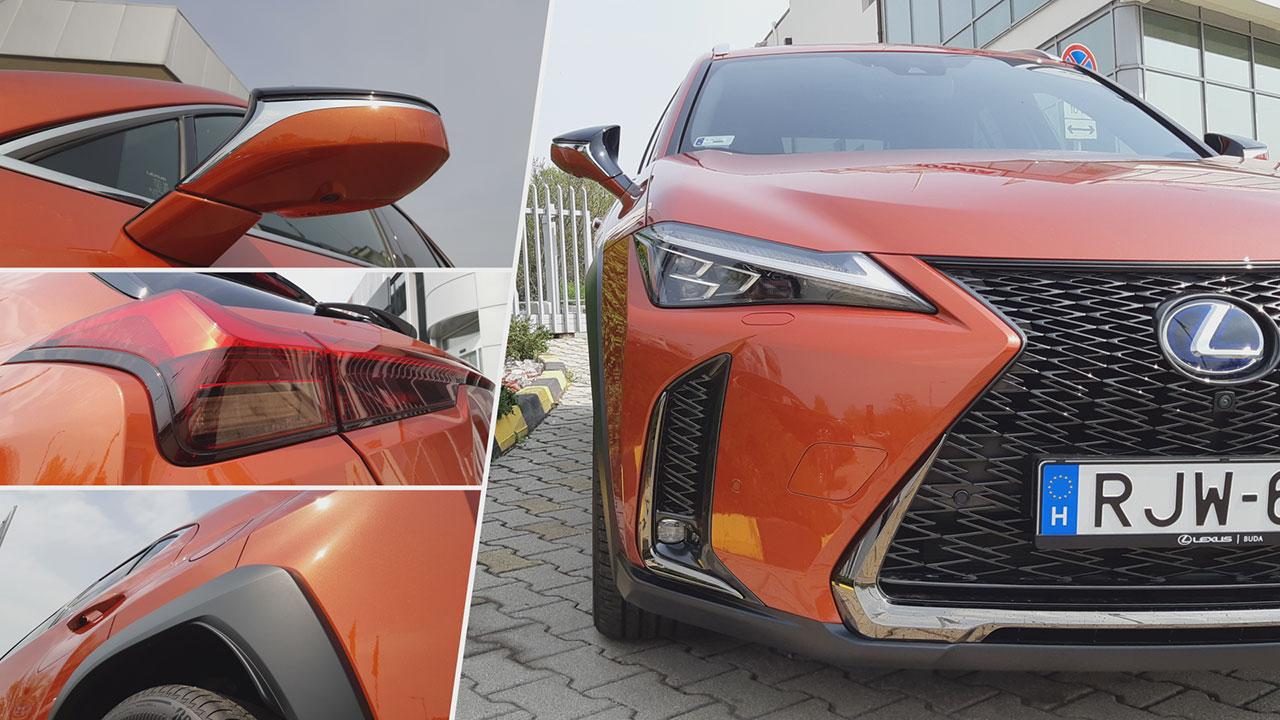 Lexus UX különleges dizájnelemek