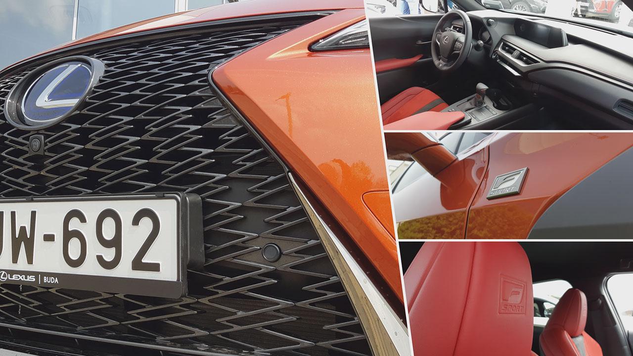 Lexus UX F-Sport felszereltség