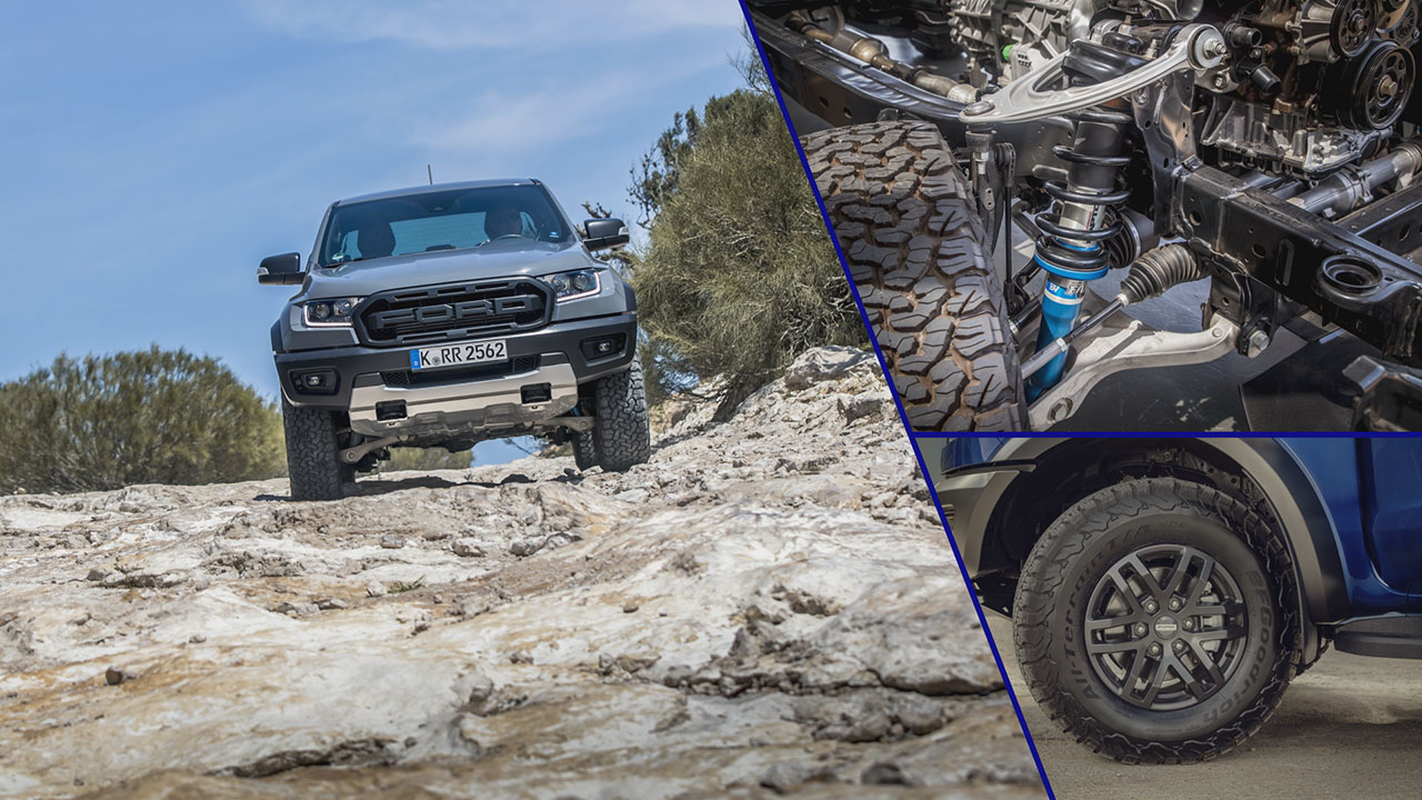 Ford Ranger Raptor 2019 futóműve