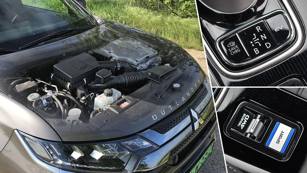 Mitsubishi Outlander PHEV 2019 motorja