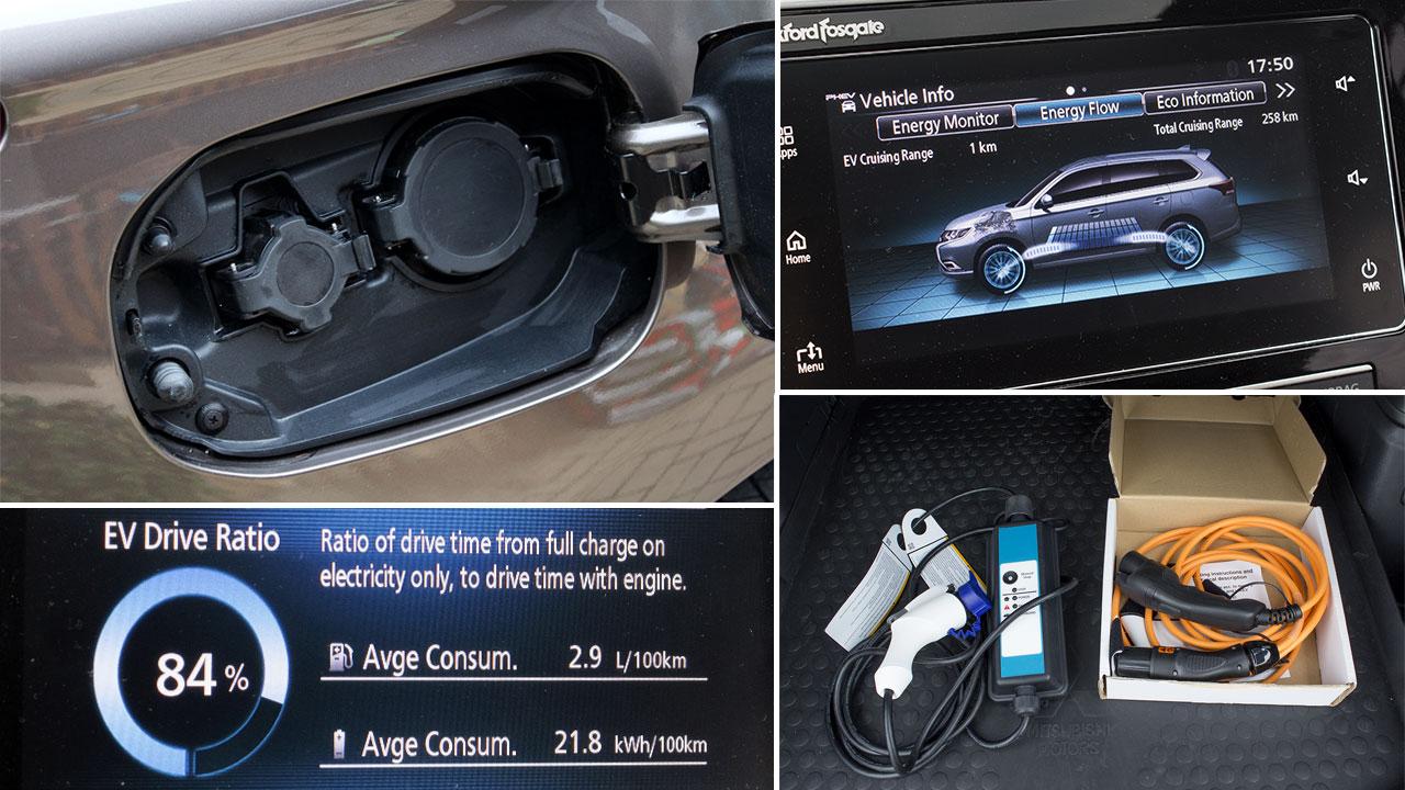 Mitsubishi Outlander PHEV 2019 töltése
