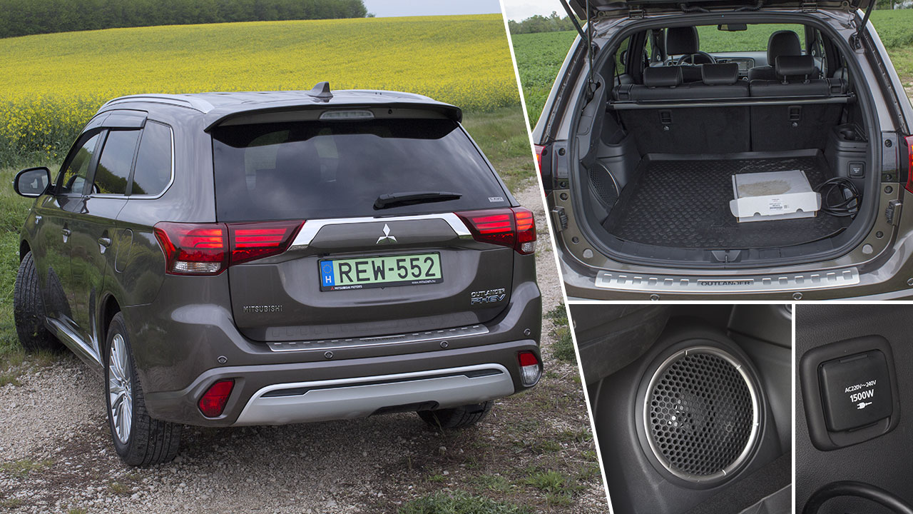 Mitsubishi Outlander PHEV 2019 csomagtere
