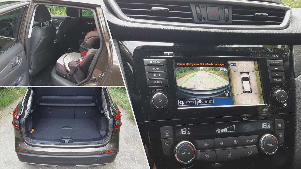 Nissan Qashqai DIG-T 160 DCT TEKNA csomagtér
