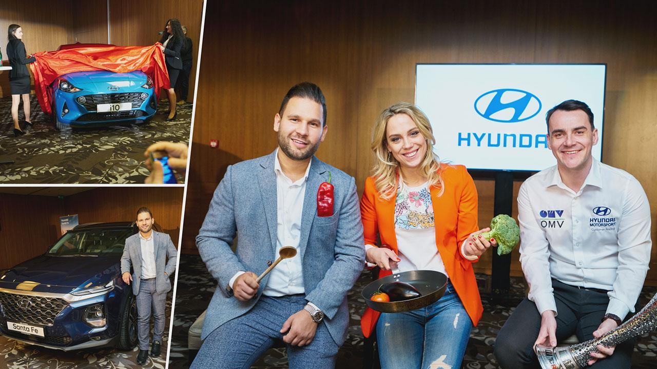 Rácz Jenő, Kiss Ramónához és Michelisz Norbert a Hyundai márkanagykövetei