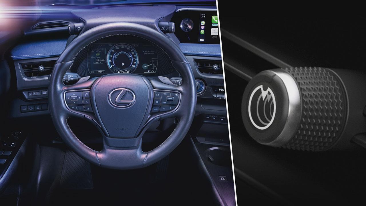 Lexus vezeték nélkül megvilágított szellőzőkapcsolók