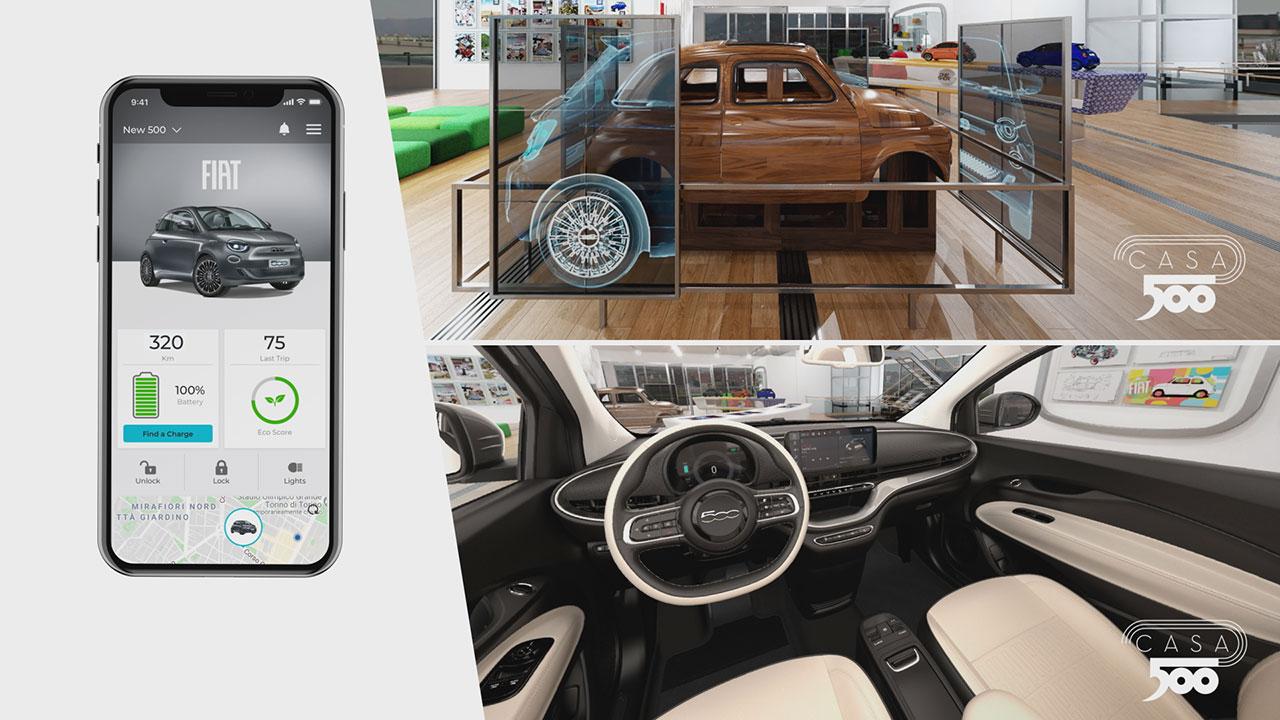 Az új, tisztán elektromos hajtású Fiat 500 app-ja