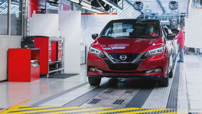 Nissan Leaf mérföldkő