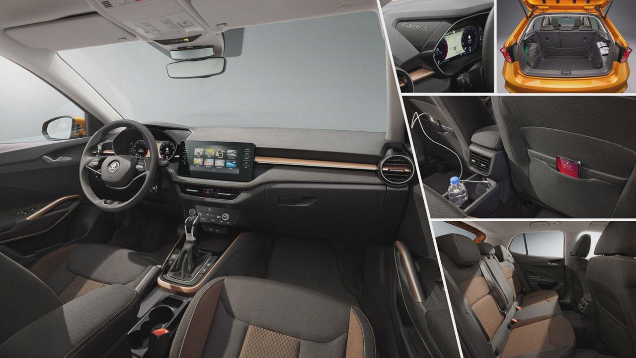 Új Škoda Fabia beltere